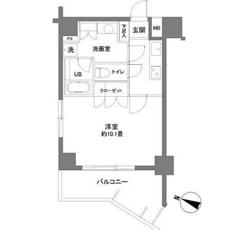 カスタリア大塚Ⅱ / 1K(33.25㎡) 部屋画像1