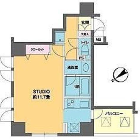 カスタリア北上野(旧ニューシティレジデンス上野タワー) / ワンルーム(35.89㎡) 部屋画像1