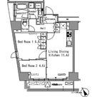 パークアクシス新板橋ウエスト / 2LDK(53.40㎡) 部屋画像1