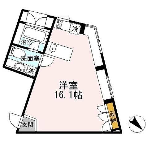 カスタリア恵比寿(旧イプセ恵比寿) / 2階 部屋画像1