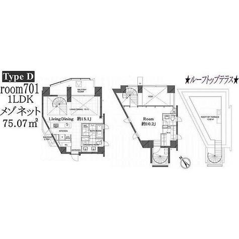 コートモデリア広尾 / 1LDK(75.07㎡) 部屋画像1