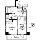 アパートメンツ都立大学 (八雲2) / 1LDK(35.07㎡) 部屋画像1