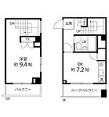 ハイリーフ芝大門(旧レジディア芝大門) / 1DK(47.01㎡) 部屋画像1
