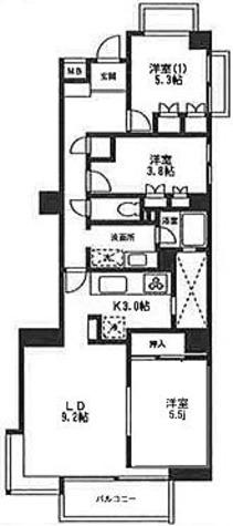 西早稲田クレセントマンション / 3LDK(67.87㎡) 部屋画像1