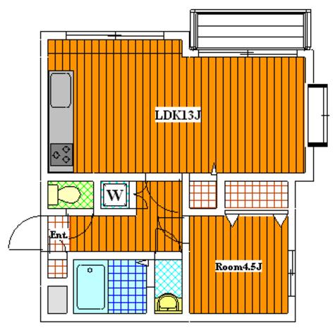 上野毛 7分マンション / 1階 部屋画像1