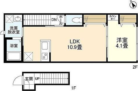 ウェルスクエア自由が丘WEST / 1LDK(40.16㎡) 部屋画像1