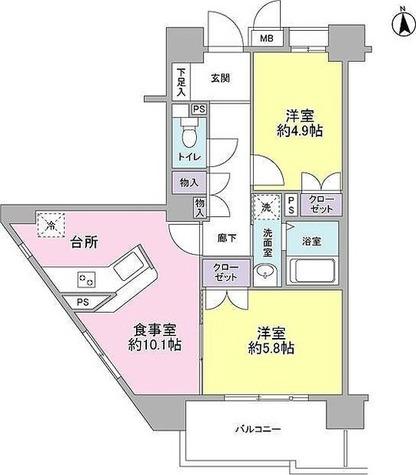 T-Forest / 2LDK(50.53㎡) 部屋画像1