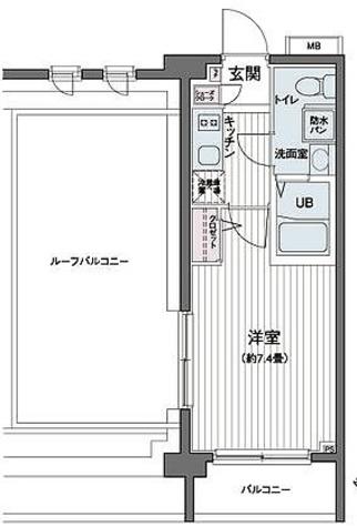 エコロジー都立大学レジデンス / 1K(22.42㎡) 部屋画像1