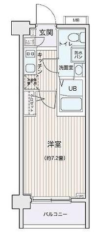 エコロジー都立大学レジデンス / 1K(22.04㎡) 部屋画像1