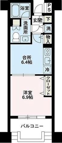 ウインベル・デュエット我孫子 / 1DK(33.12㎡) 部屋画像1
