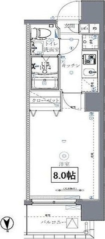 ミルーナリュクス西川口 / 1K(23.37㎡) 部屋画像1