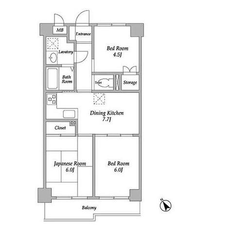 プレステージマンション191 / 3DK(53.9㎡) 部屋画像1