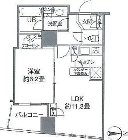 カスタリアタワー品川シーサイド / 1LDK(44.05㎡) 部屋画像1