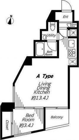ビバリーホームズ麻布十番 / 1LDK(38.26㎡) 部屋画像1