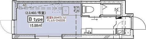 PROTO武蔵小山 / ワンルーム(15.88㎡) 部屋画像1