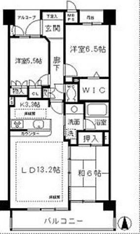 レジディア白壁東 / Hタイプ(78.20㎡) 部屋画像1