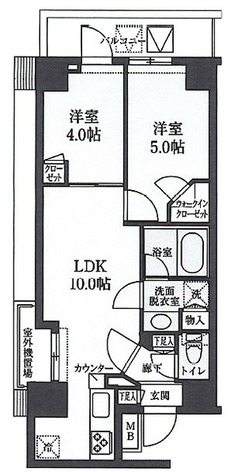 S-RESIDENCE清澄白河 / 2LDK(42.45㎡) 部屋画像1