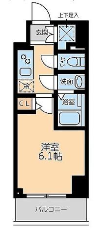 プライマル品川大森海岸 / 1K(20.03㎡) 部屋画像1
