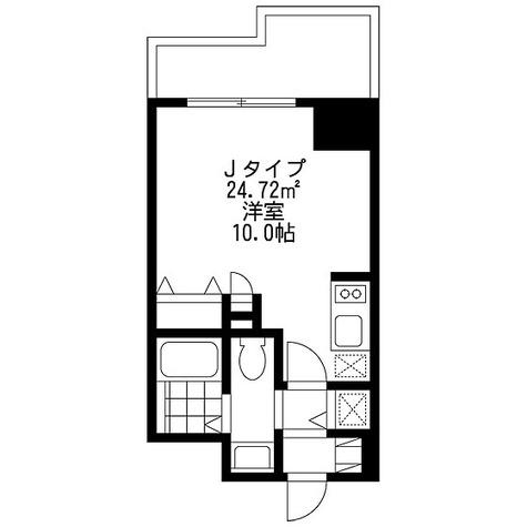 SIDE One(サイドワン) / ワンルーム(24.72㎡) 部屋画像1