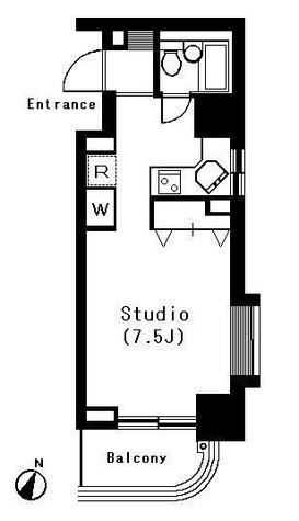 カステーロミズタニ / 1K(24.95㎡) 部屋画像1