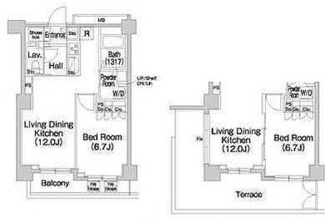 コンフォリア市谷薬王寺 / 1LDK(44.91㎡) 部屋画像1