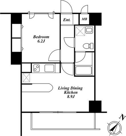 Roppongi Residences(六本木レジデンシィズ) / 1LDK(38.80㎡) 部屋画像1