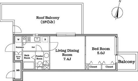 レジディア西新宿Ⅱ / 1LDK(34.14㎡) 部屋画像1