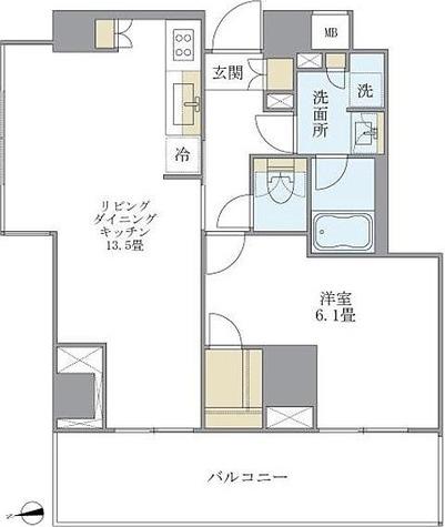 アパートメンツ南麻布Ⅱ / 1LDK(51.10㎡) 部屋画像1