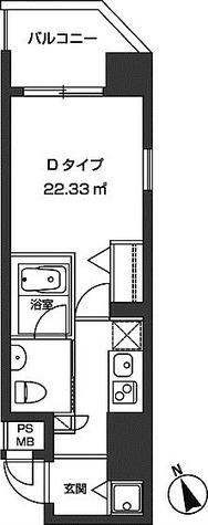 レジディア虎ノ門 / 1K(22.33㎡) 部屋画像1