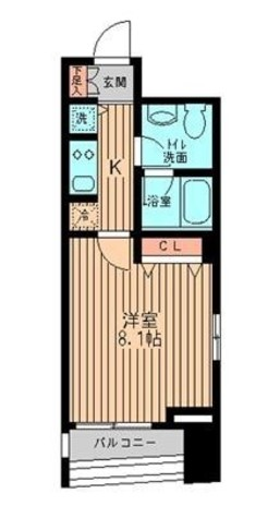 ミテッツァ東日本橋 / 4階 部屋画像1