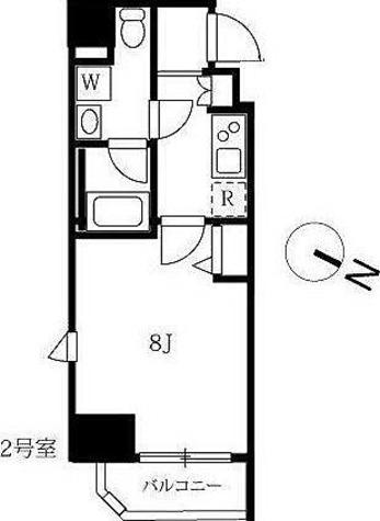 アンベリール西川口 / 2号室(26.08㎡) 部屋画像1