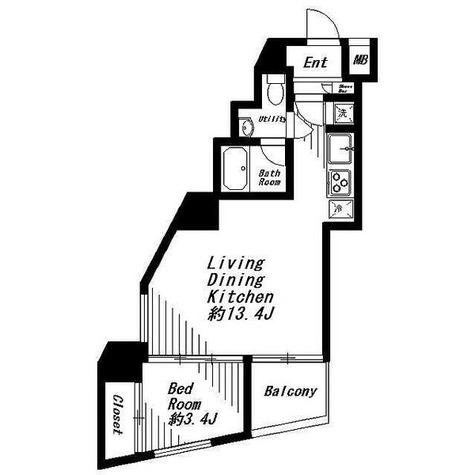 ビバリーホームズ麻布十番 / 1LDK(37.65㎡) 部屋画像1