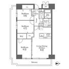 レジディア芝浦(旧パシフィックレジデンス芝浦) / Aタイプ(62.90㎡) 部屋画像1