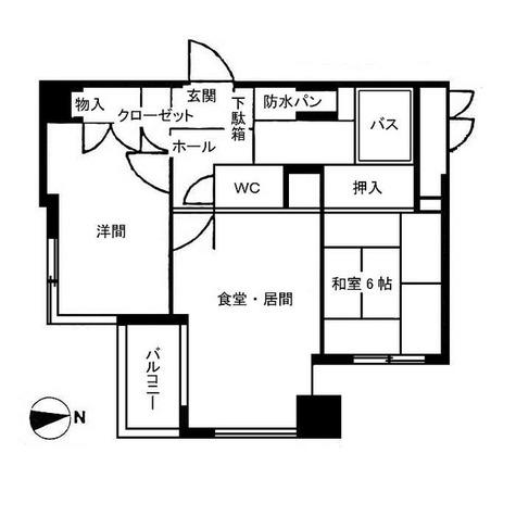 アネックス調布 / 2DK(47.57㎡) 部屋画像1
