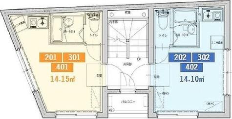 コンポジット上野毛フロント / ワンルーム(14.10㎡) 部屋画像1