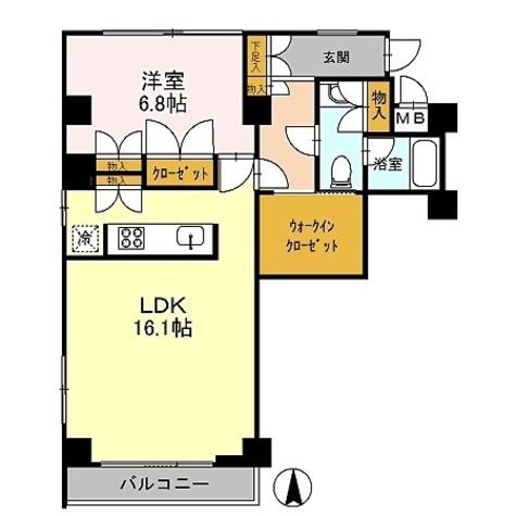 カスタリア目黒鷹番 / Lタイプ(56.75㎡) 部屋画像1