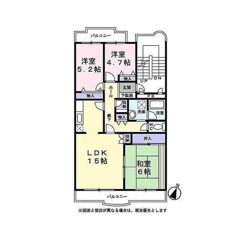 サンモール大宮 / 3LDK(76.32㎡) 部屋画像1