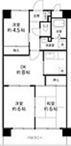 T's garden蕨Ⅱ / 3DK(54㎡) 部屋画像1