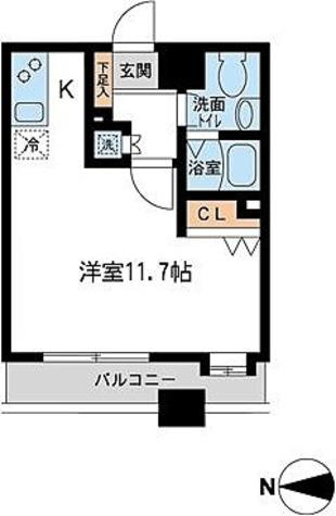 HF錦糸町レジデンス(旧:T&G錦糸町マンション) / M1タイプ(28.77㎡) 部屋画像1