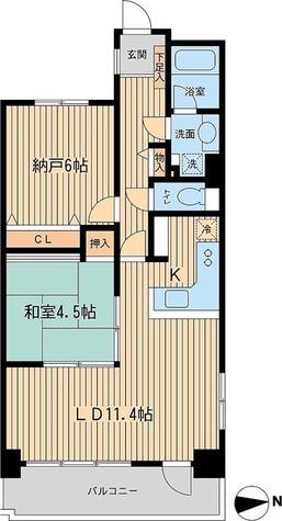 芝公園アパートメント / C2タイプ(60.09㎡) 部屋画像1