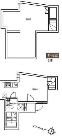 ポルトグランデ目黒かむろ坂 / 19号室タイプ(44.97㎡) 部屋画像1