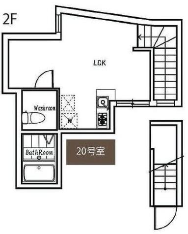 ポルトグランデ目黒かむろ坂 / 20号室タイプ(22.66㎡) 部屋画像1