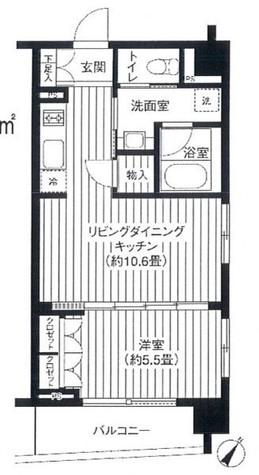 コスモグラシア日本橋浜町 / 2階 部屋画像1