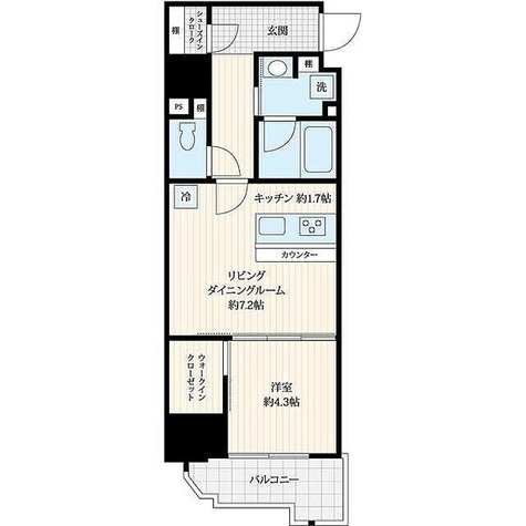 Log浅草west / 1LDK(40.39㎡) 部屋画像1