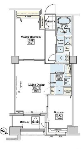 レジディアタワー上池袋 / TW-2LDK(52.06㎡) 部屋画像1