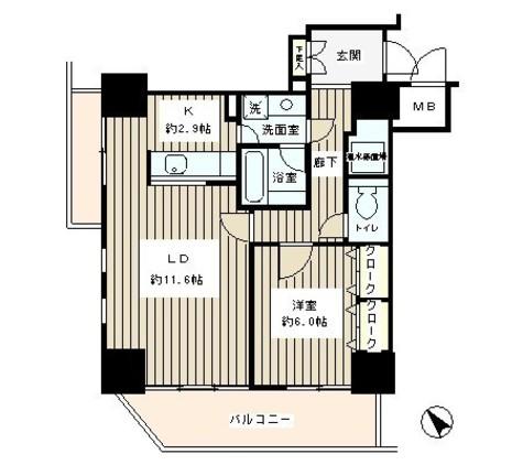 トレステージ目黒 / 905 部屋画像1