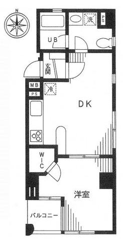 レセゾン麻布 / 202 部屋画像1