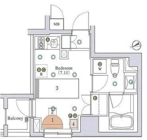 アパートメンツ銀座東 / 903 部屋画像1