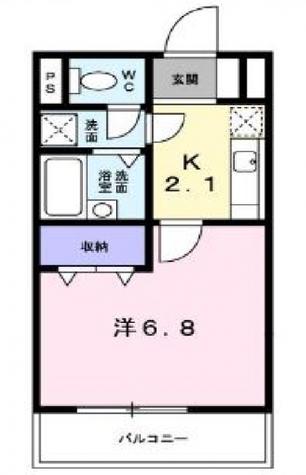 メゾン・ド・ジュン / 3階 部屋画像1