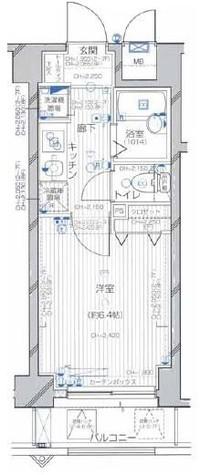 ラグジュアリーアパートメント・デュオ神楽坂 / 7階 部屋画像1